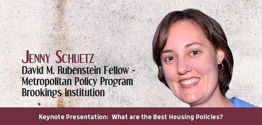 Jenny Schuetz, David M. Rubenstein Fellow - Metropolitan Policy Program, Brookings Institution